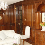 Cherry panelling at a Staffordshire country house