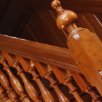 A cherrywood staircase