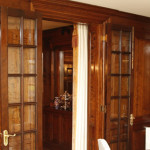 New French windows and panelling at a Staffordshire country house