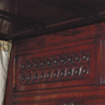 354 Carolean headboard guilloche detail 2