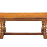 234 Refectory Table with optonal carved rails