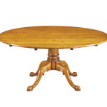 246B 64ins Round Pegtop table - shown in cherry