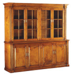 372 Glazed Bookcase in cherry