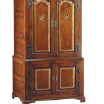 361 Panelled cupboard - shown with inlaid stars