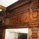 Panelled fire surround for a circa 1650 Gloucestershire farmhouse