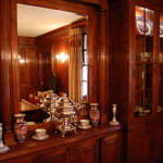 Dining room feature within the panelling designed by Graham Hayes