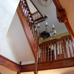 Cherrywood staircase to the seconf floor of a grand Staffordshire home